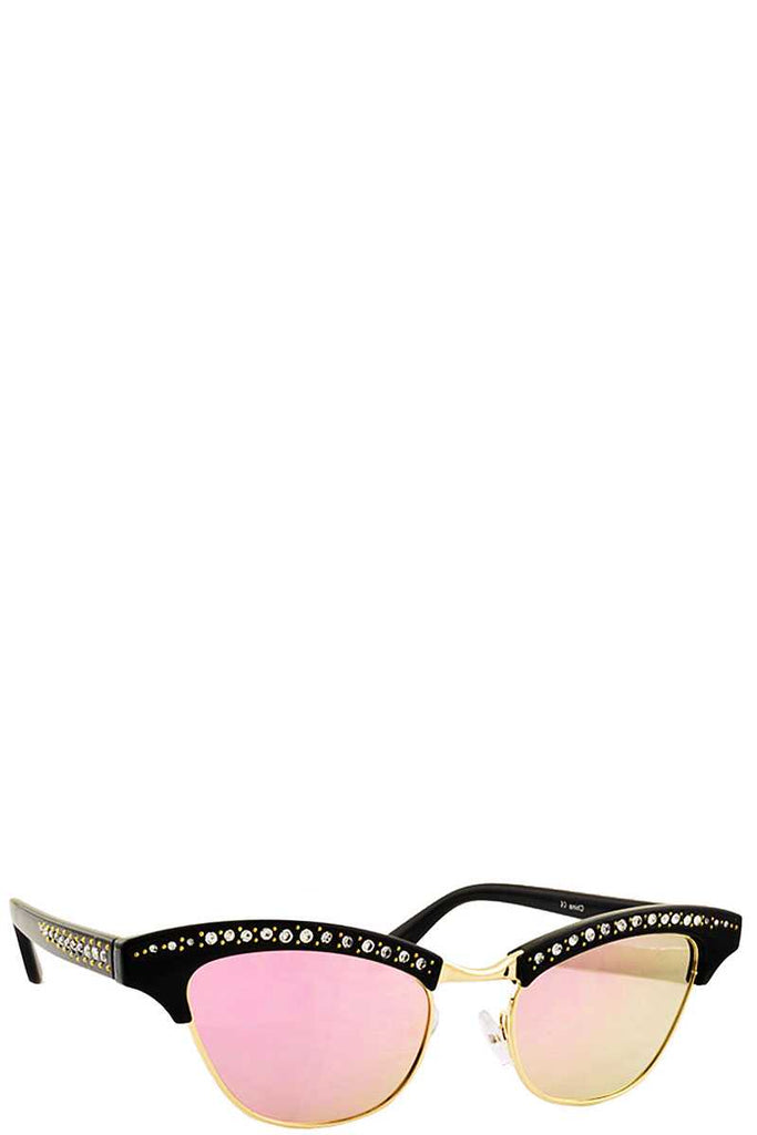 ARACELLI Multi Rhinestone Cat Eye Sunglasses