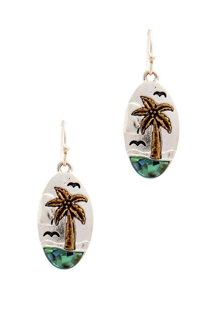 Designer Cute Sea And Palm Tree Earring