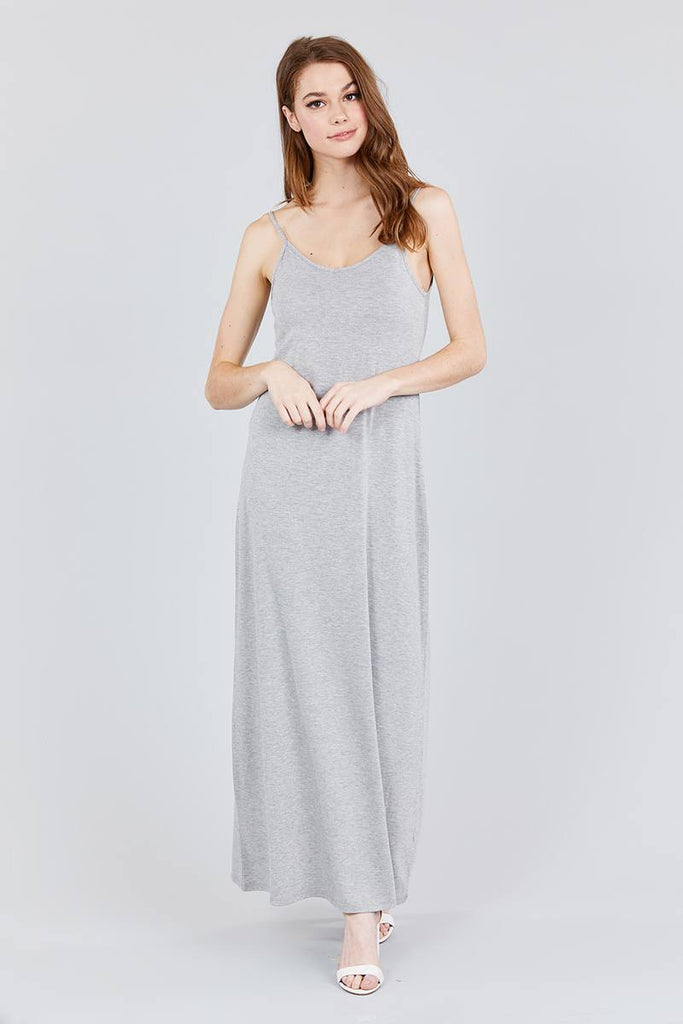 GIANA Double V-neck Cami Maxi Dress
