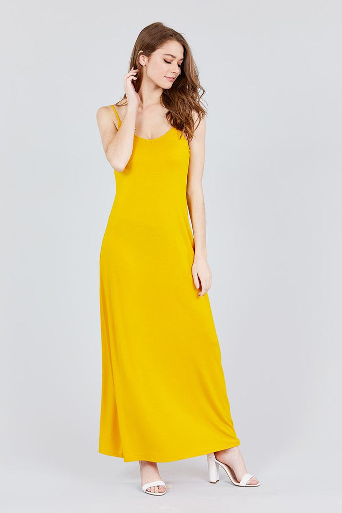 FELICITY Double V-neck Cami Maxi Dress