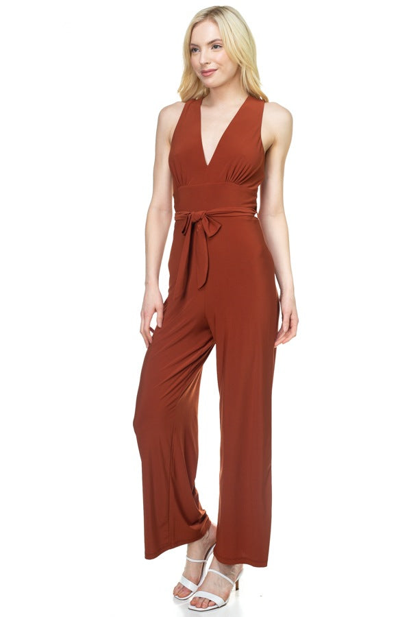 LOLA Strapless Belted Jumpsuit