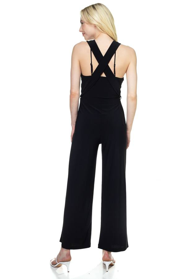 ARACELLI Strapless Belted Jumpsuit