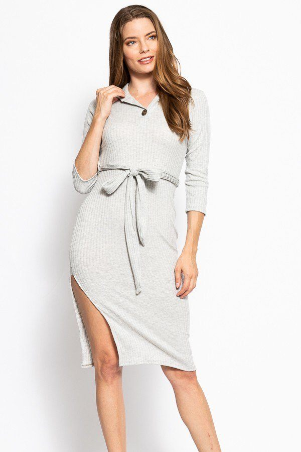 SHANNA Solid, Midi Tee Dress