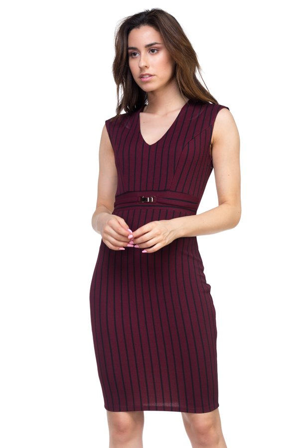 KERI Stripe Belted Dress