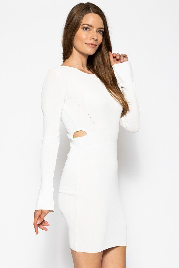 LESLIE Bodycon Knit Dress Sweater Dress