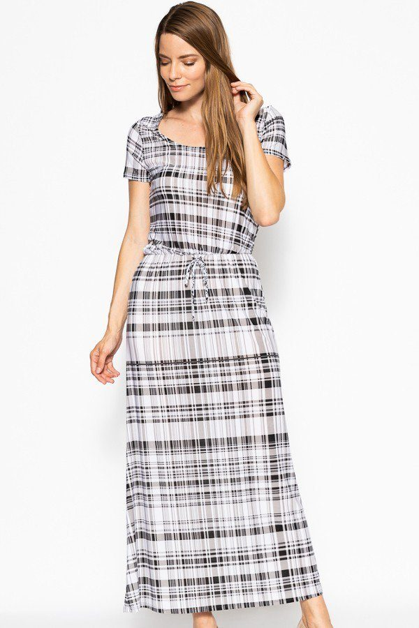 DIXIE Short Sleeved Maxi Dress