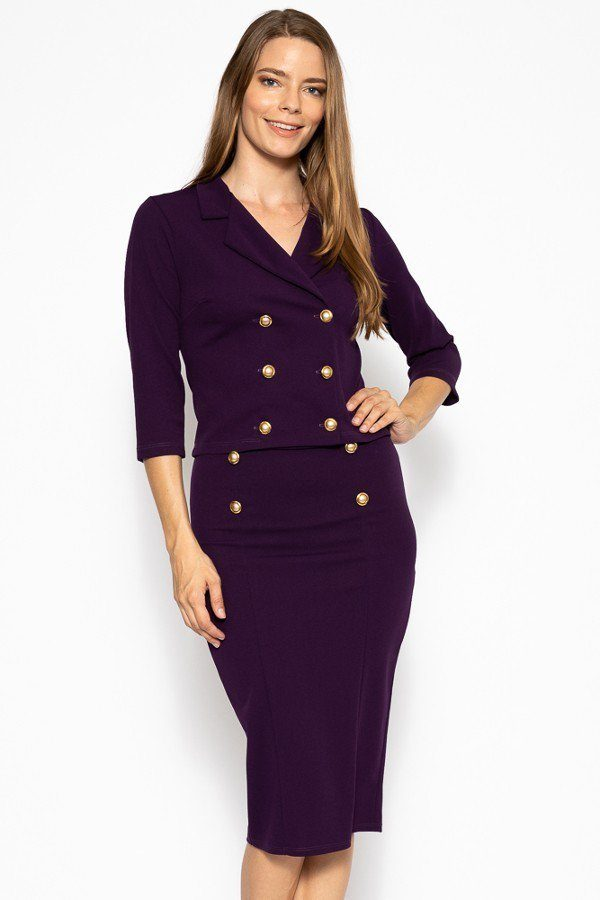Classic Skirt Suit Set