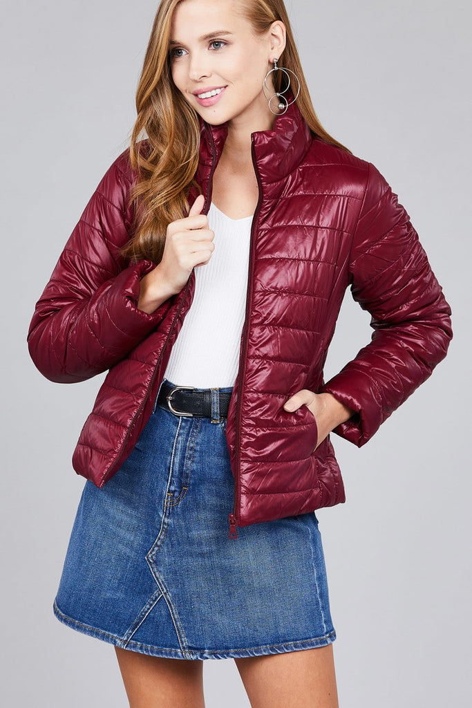 Long Sleeve Quilted Padding Jacket