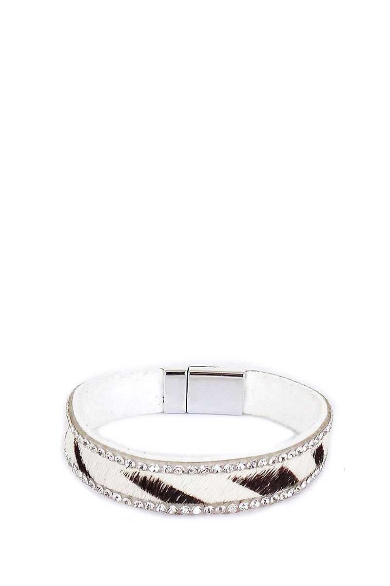 Rhinestone Animal Pattern Magnetic Bracelet