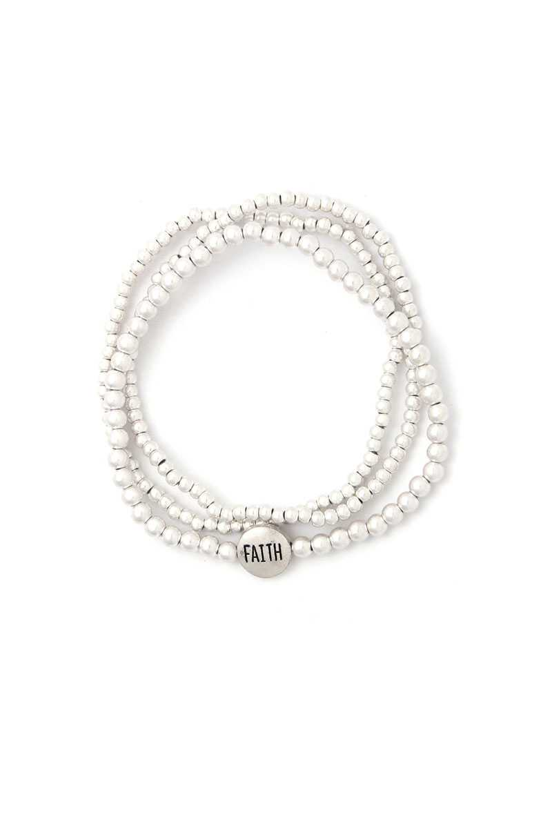 Faith Beaded Stackable Bracelets