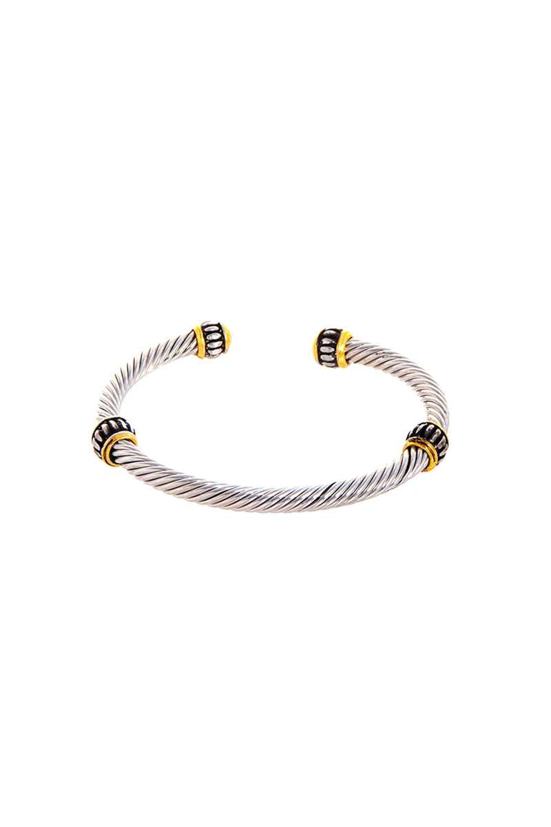 Stylish Trendy Twisted Wire Bracelet