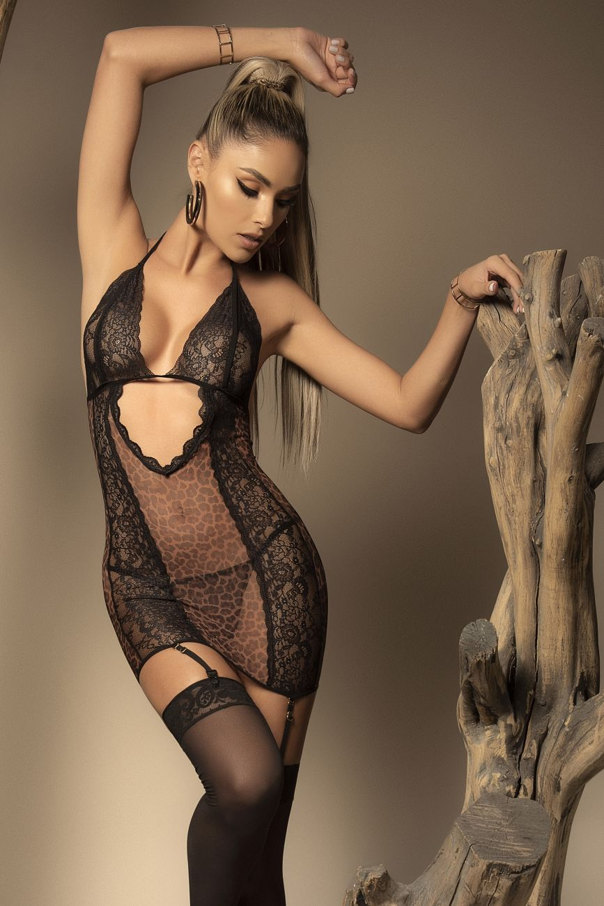 Babydoll with Garter Straps and Matching G-String