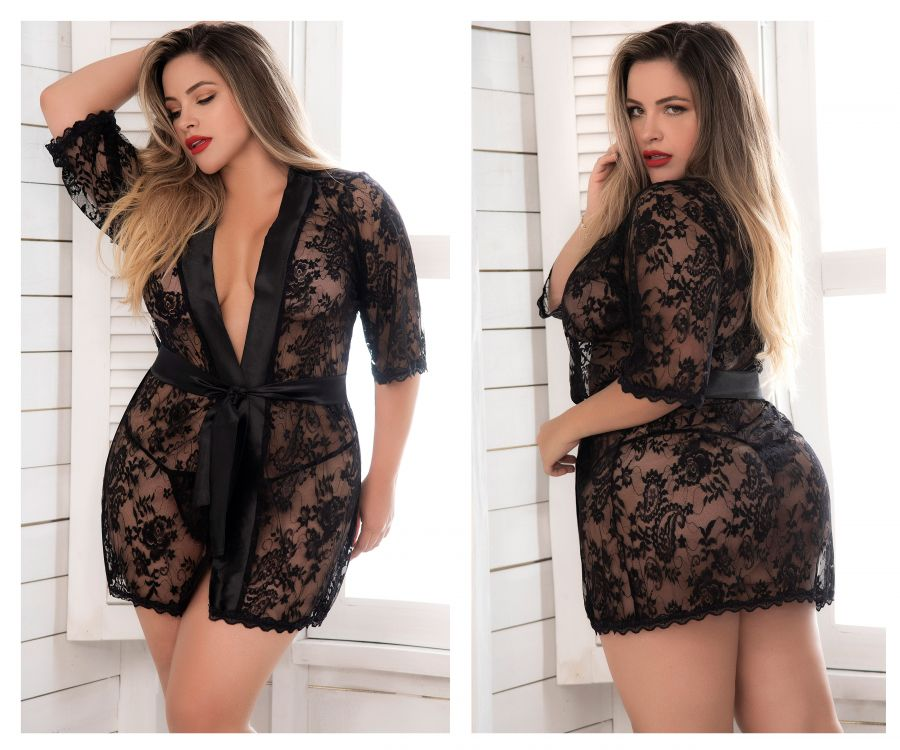 Lace Robe with Matching G-String