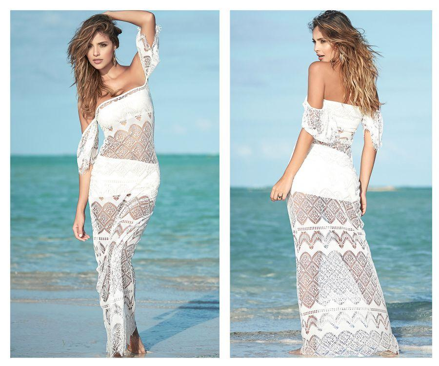 SAMMY Three Piece Long Beach Dress with Top and Skirt
