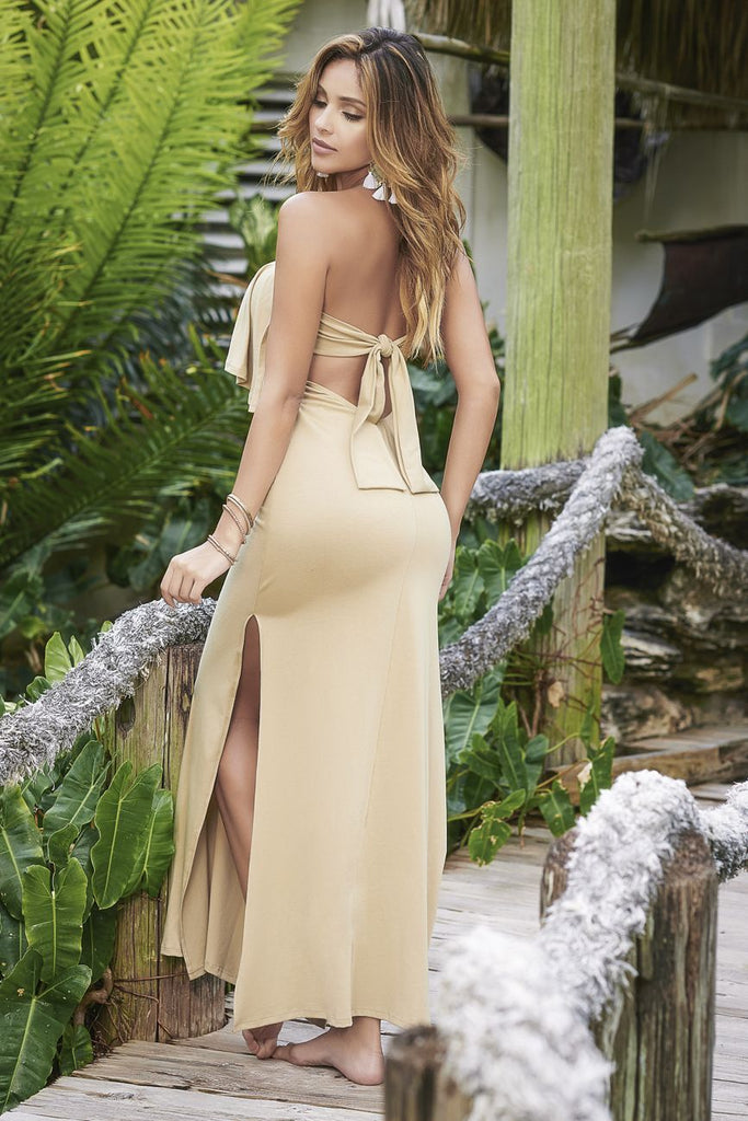 ALMA Removable and Adjustable Straps Long Dress