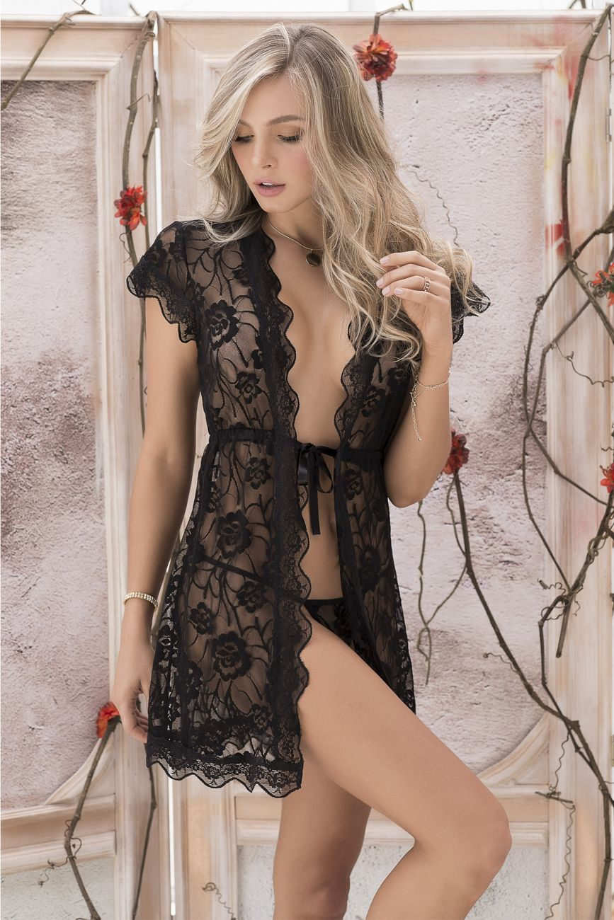 LANA Robe with Matching G-String Lingerie Set