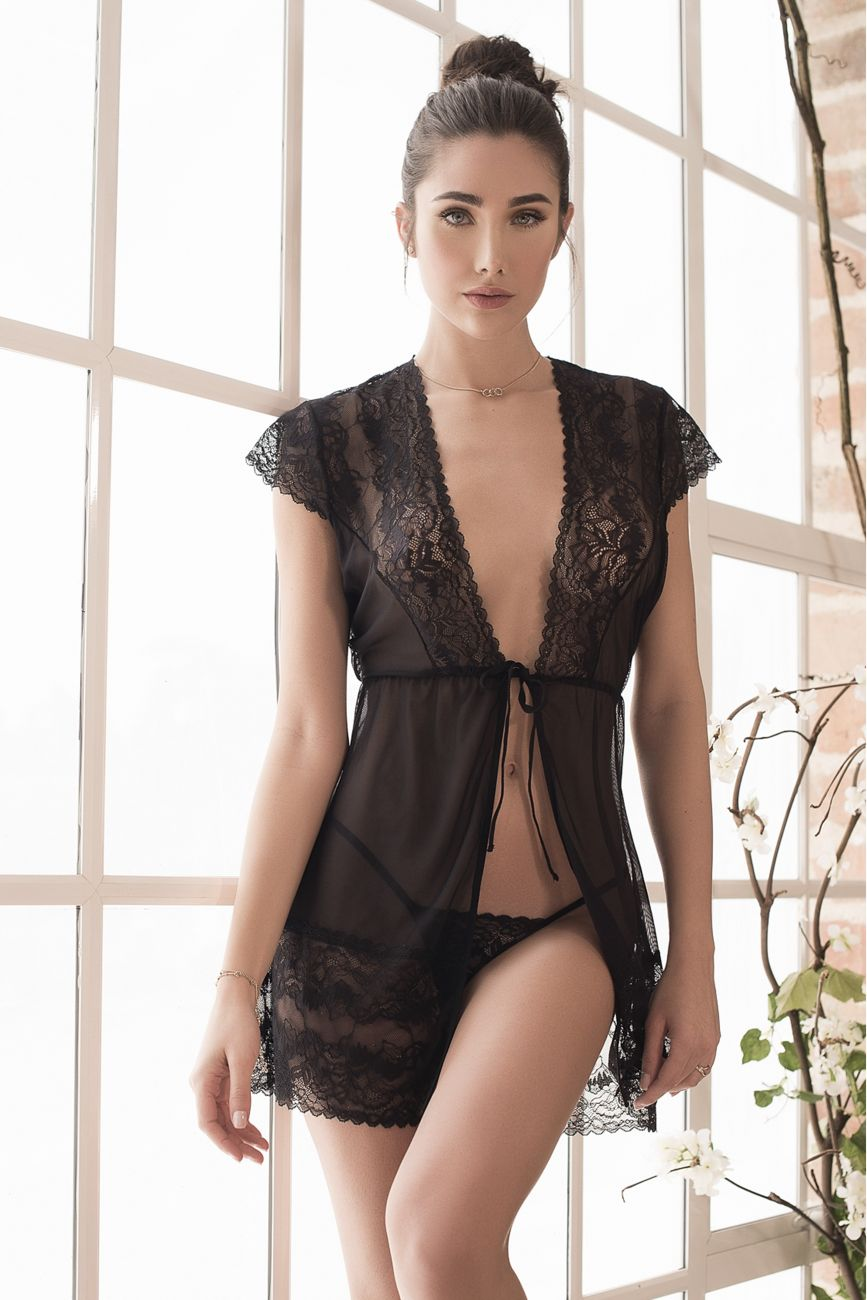 ADIE Robe with Matching G-String Lingerie Set
