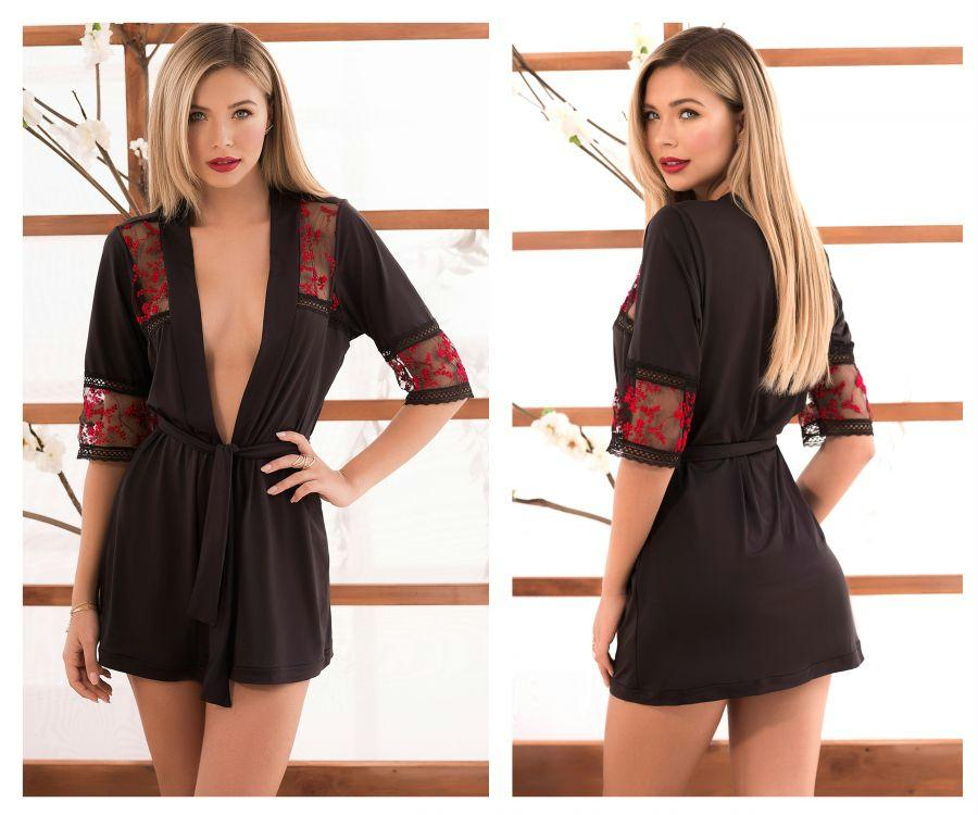 BECCA Robe with Matching G-String Lingerie Set