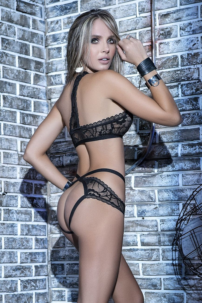 MICHELLE Two Piece Peek-A-Boo Lingerie Set