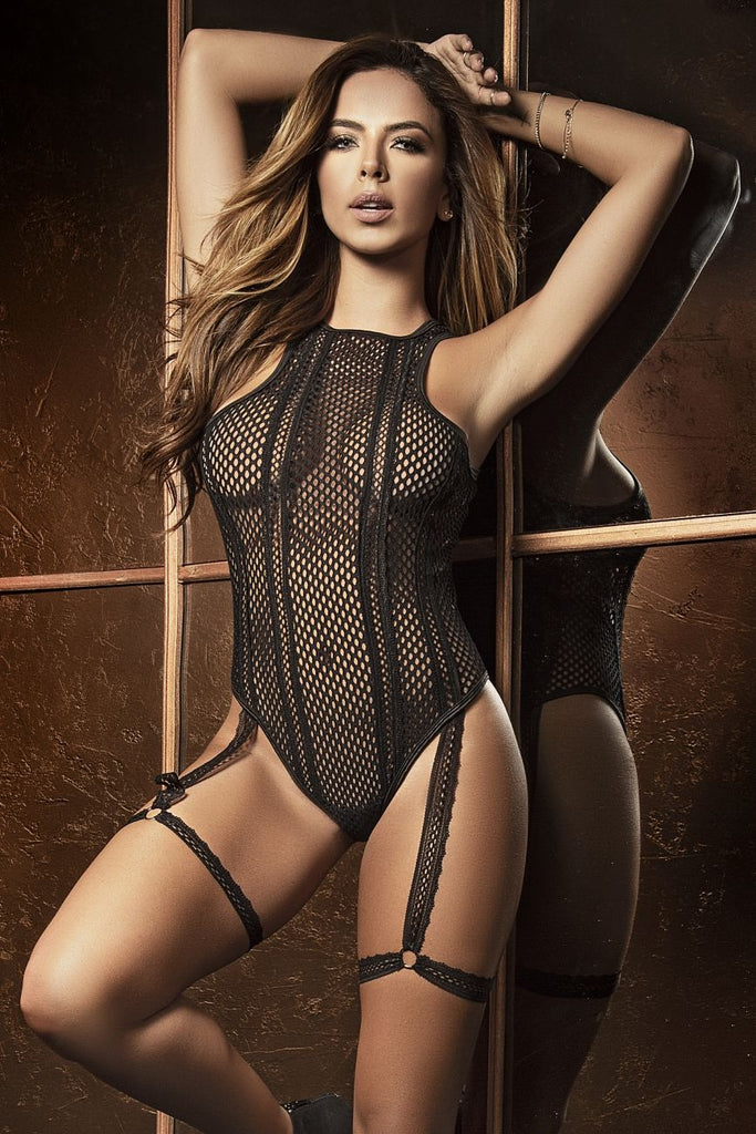 CAREN Bodysuit With Garter Straps