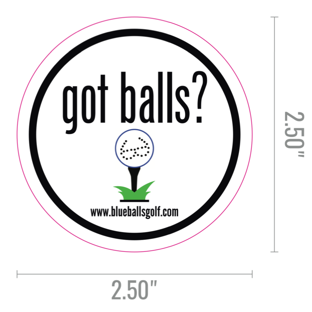 """got balls?"" Four (4) Pack of Stickers"