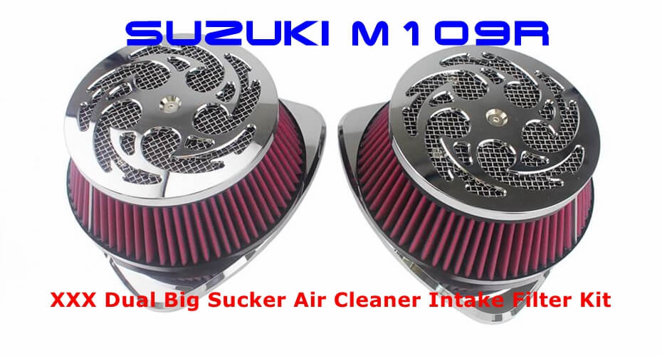 Pazoma XXX Dual Big Sucker Air Cleaner Intake Filter Kit Installation instruction for M109R