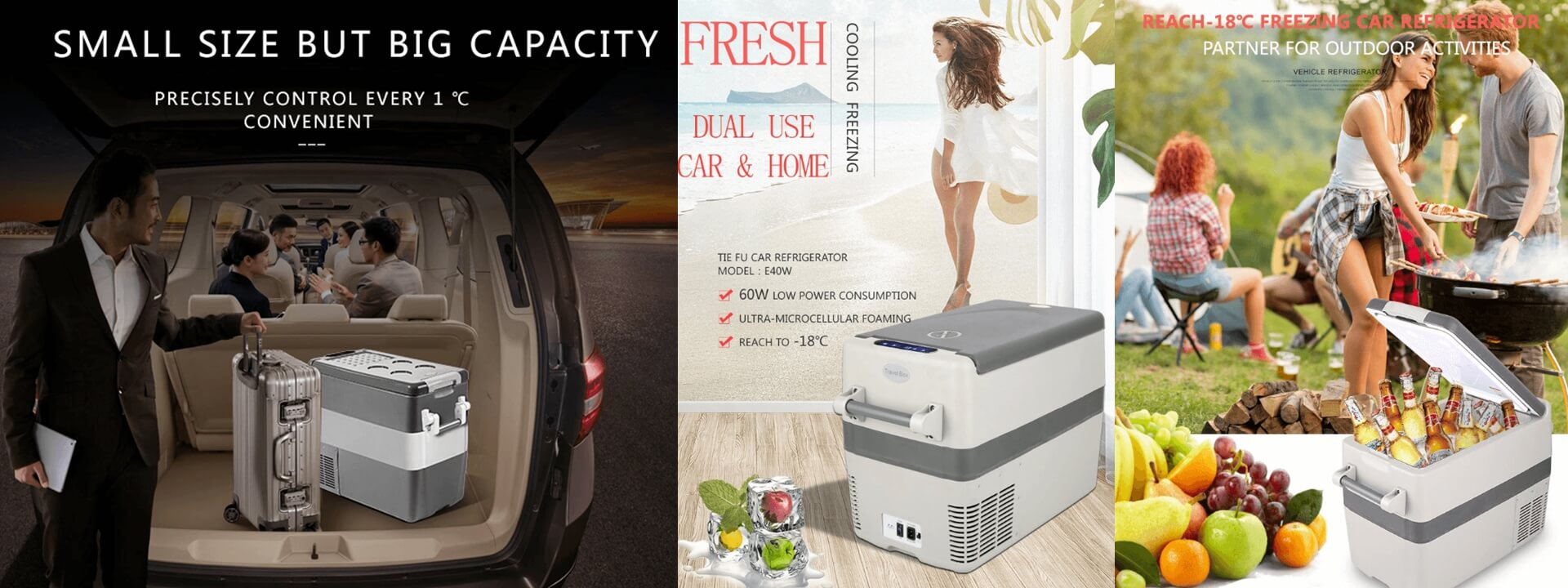 Car Fridge DC 12V DC24V Portable Camping Refrigerator