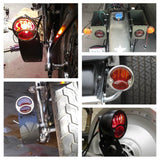 1928-1932 Ford Model A Duolamp STOP Lens Tail Light Harley Chopper Bobber Cafe Racer Vintage old school Scrambler Racer Custom - pazoma