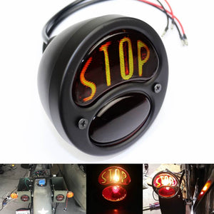 """STOP"" Script Brake Taillight 1928-1932 Ford Model A Duolamp Tail Light For Harley Bobber Chopper Cafe Racer Old School - pazoma"