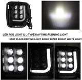 Dodge RAM 1500 2013-2018 Led Fog Driving Light Fog Lamp Assembly with bright LED DRL - pazoma
