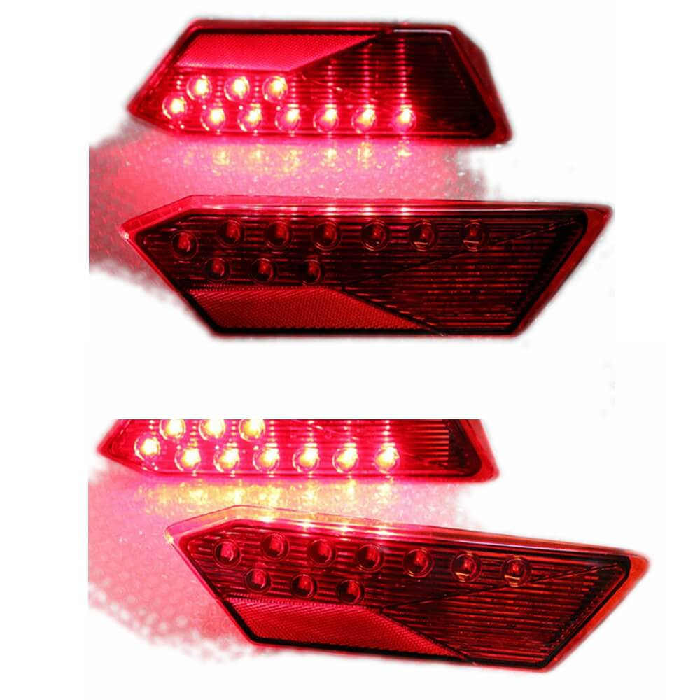 2Pcs LED Tail Light Rear Driving Lamp Taillight Replacement for Polaris RZR 1000 XP/Turbo 900 S RZR 4 Premium 2014-2020 Right Left - pazoma