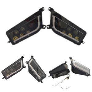 2014-2020 Polaris General RZR 1000 XP Turbo RZR 900 Black & White  Angel Eye LED Headlights Halo Kit Conversion Replacement Headlamp DRL - pazoma