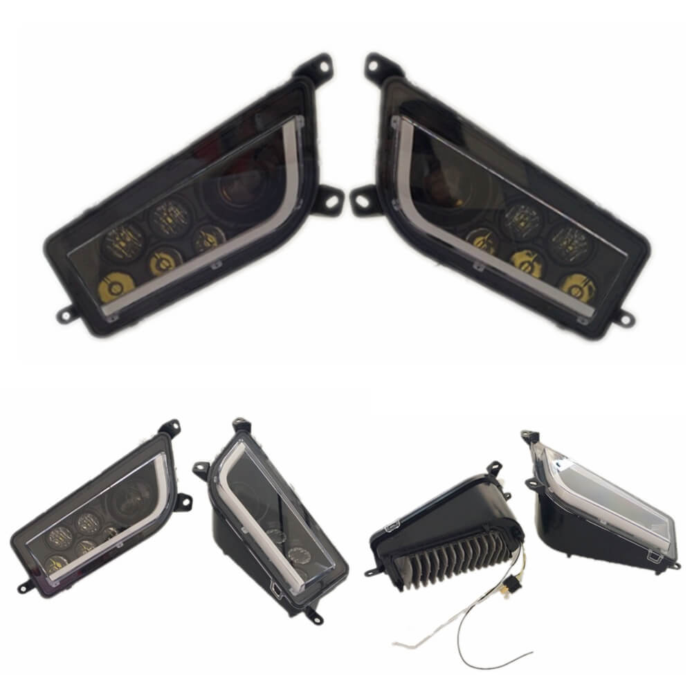 Polaris RZR XP 1000 LED Headlights RZR 900 Fits 2014-2020 UTV Headlamp with White DRL Daytime Running Lamp - pazoma