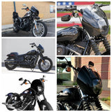 Motorcycle Headlight Fairing With Clear Windshield For Harley Dyna Sportster XL 88-16 Dyna 95-05 FXR 86-94 - pazoma
