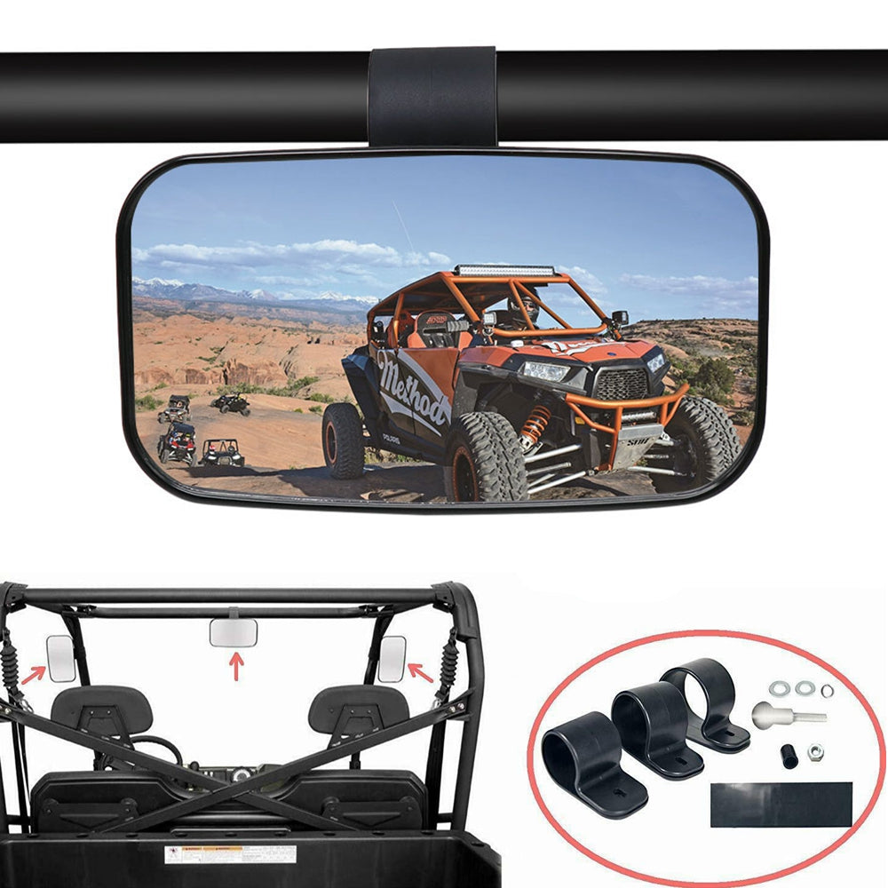 "2020 UTV Mirror Rear Center View Mirror For 1.5"" 1.75"" 2"" Polaris RZR Pro XP Yamaha Honda Ranger Kawasaki Kubota Can Am - pazoma"