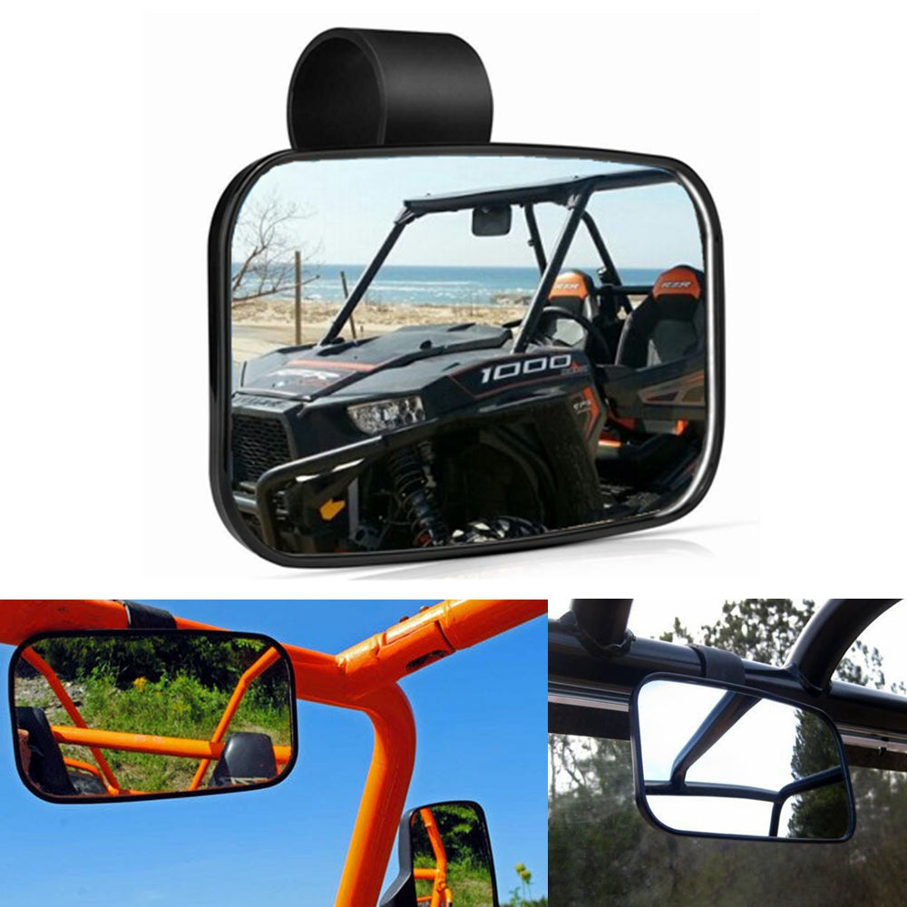 UTV Large Rear Center View Mirror For Polaris Ranger 900 XP Ranger 570 2017-2020 Can-Am Commander Maverick X3 Yamaha Viking Rhino Honda Gator - pazoma