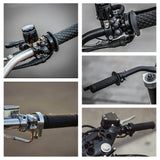"1"" 7/8"" Handlebar Custom Vintage Cafe Racer Push Switch Gear Housing Dual Button Momentary 2 Buttons for Honda Harley XS650 - pazoma"
