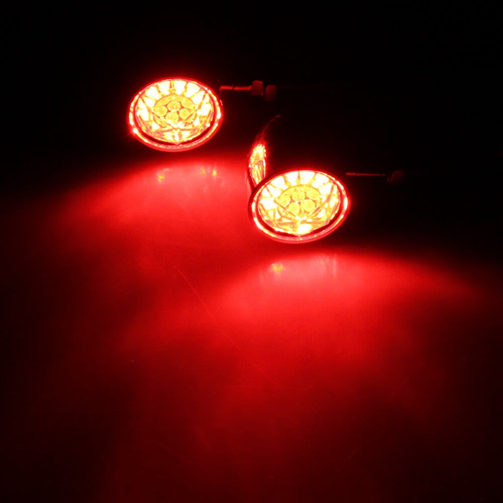 3 in 1 LED Turn Signal Blinker Indicator w/Taillight Brake Light Universal Harley Chopper Bobber Cafe Racer Custom Cruisers Triumph - pazoma