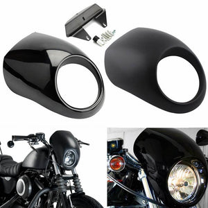 Motorcycle Head light Headlight Fairing Front Cowl Fork Mount For Harley Sportster Dyna FX XL 883 1200 Motor Accessories - pazoma