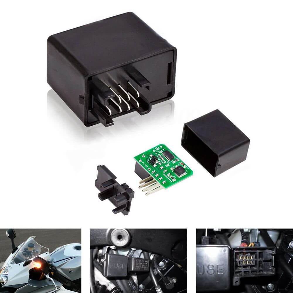 7-Pin FE249JR 38610-03F00 Electronic LED Flasher Relay Hyper Flash Fix For Turn Signal Blinker Bulbs - pazoma