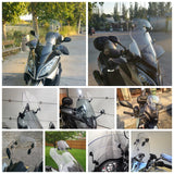 Motorcycle Adjustable Clip On Windscreen Windshield Extension Spoiler Wind Deflector Adjustable Lockable Plus and Mini Size - pazoma