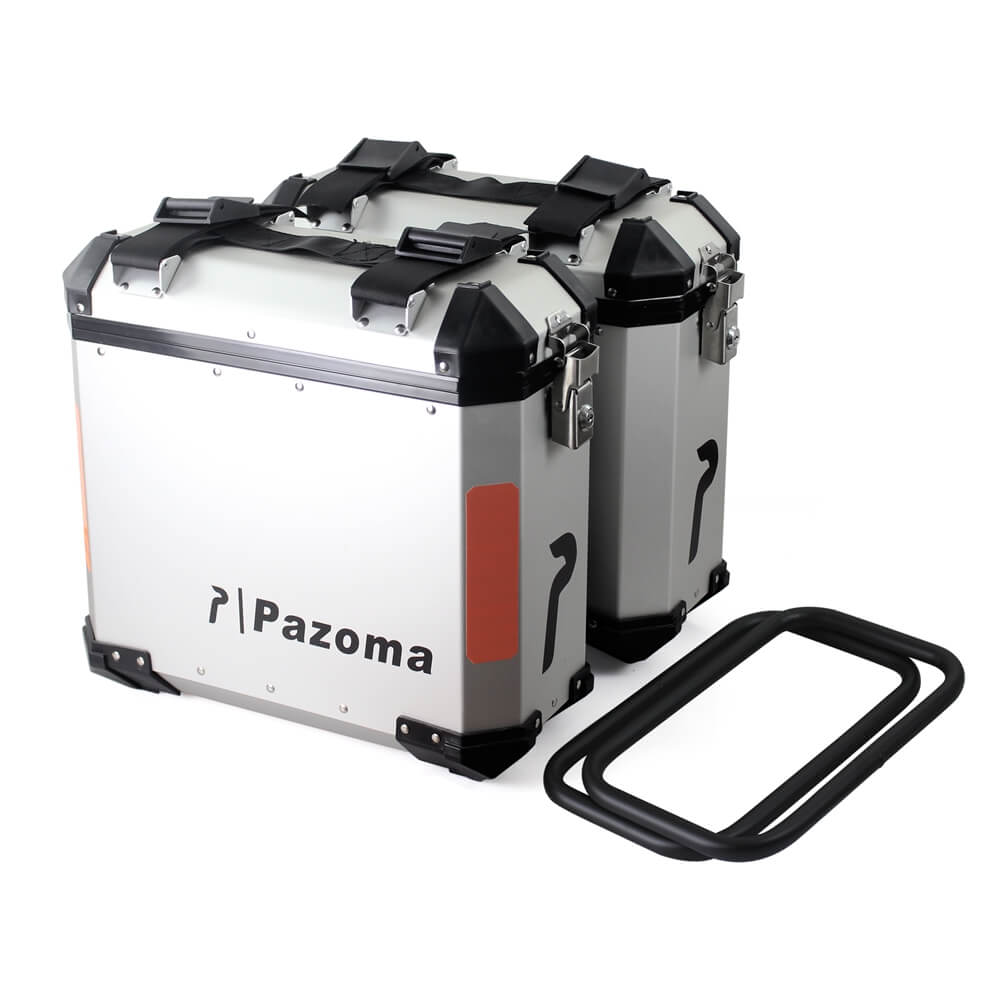 36L Motorcycle Aluminum Side Cases Kit Luggage Pannier Cargo Bags Saddlebags Large Side Boxes For KTM BMW R1200GS F800GS Adventure Universal - pazoma