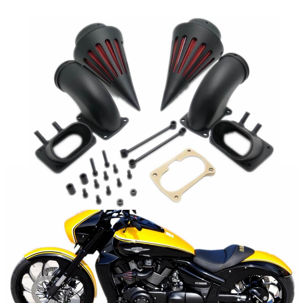 Motorcycle Spike Intake Air Cleaner Intake Filter Kits For Suzuki Boulevard M109 M109R VZR1800 Black Chrome - pazoma