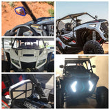 Aluminum Alloy 1.75 inch UTV Offroad Side View Mirror RZR Mirror Break Away with Ball Universal Joint for Polaris RZR 1000 XP - pazoma