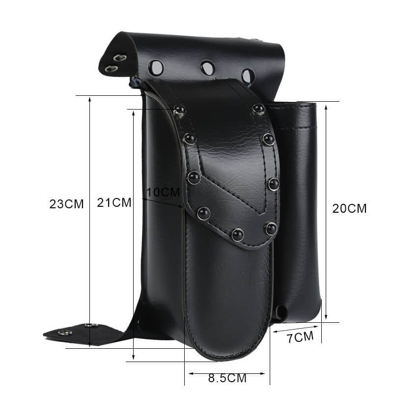 Harley Touring Road King FLTRX Electra Glide Motorcycle Saddle bag Guard Crash Bar Bag with Water Bottle Holder Pu Leather - pazoma