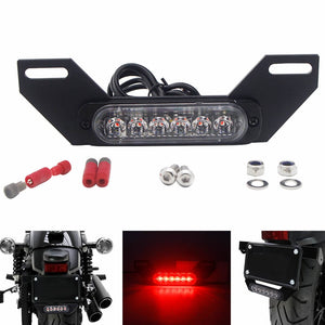 Motorcycle B6 License Plate Auxiliary LED Taillight Burst Flash Brake light - pazoma