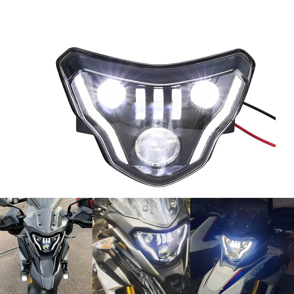 For BMW G310GS G310R 2016-2020 LED Headlight Headlamp with Daylight Running Light DRL Assembly Kit 2017 2018 2019 - pazoma