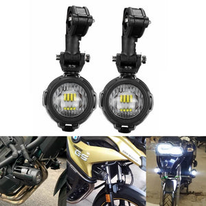 BMW R1200GS ADV K1600 R1100GS F800GS F700GS F650GS Motorcycle LED Auxiliary Fog Light Safety Driving Spot Lamp - pazoma
