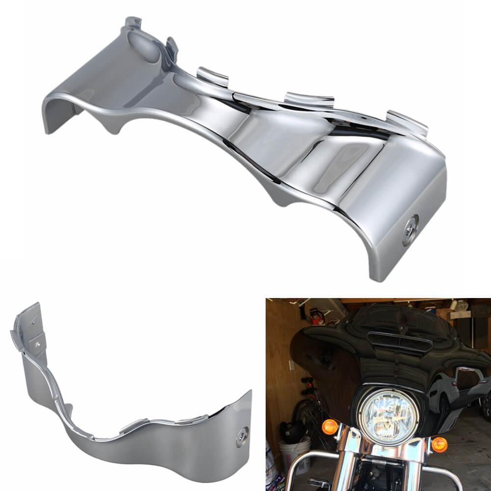 Chrome Outer Batwing Lower Trim Skirt Fairing For Harley Davidson Touring Electra Glide Street Glide Ultra Limited FLHX FHLT FLH 2014-2020 57000017 - pazoma