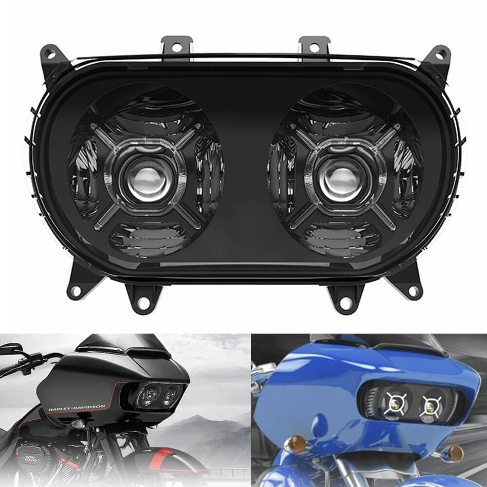 LED Headlight Dual HI/LO Beam Led Projector Head Lamp w/ DRL For Harley Road Glide Ultra Special Limited CVO FLTRU FLTRX FLTRXS FLTRXSE FLTRK - pazoma